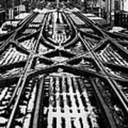 Chicago 'l' Tracks Winter Art Print