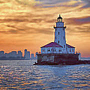 Chicago Lighthouse Impression Art Print