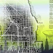 Chicago Map Gradient Art Print
