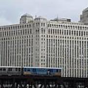 Chicago Merchandise Mart And Cta El Train Art Print