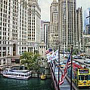 Chicago Michigan Avenue V Hdr Textured Art Print