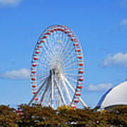 Chicago Navy Pier Ferris Wheel Art Print by Christine Till