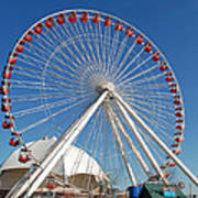 Chicago Navy Pier Ferris Wheel Art Print