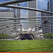 Chicago Pritzker Music Pavillion Triptych 3 Panel Art Print