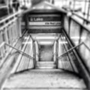 Chicago Lake CTA Red Line Stairs Art Print
