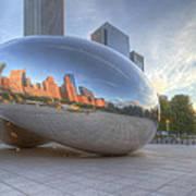 Chicago Reflection Art Print