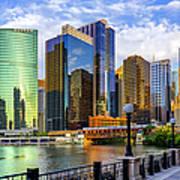 Chicago River & Willis Tower Art Print