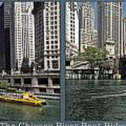 Chicago River Boat Rides 2 Panel Art Print