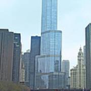 Chicago River Sights Art Print