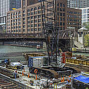 Chicago- Riverwalk Construction Art Print