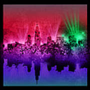 Chicago Skyline Abstract 4 Art Print