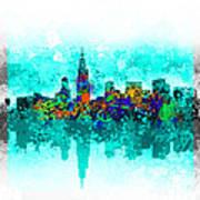 Chicago Skyline Abstract Art Print