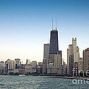 Chicago Skyline And Lake Art Print