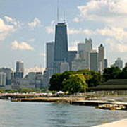 Chicago Skyline And Lakefront Art Print