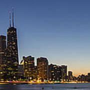 Chicago Skyline At Dusk 3 To1 Aspect Ratio Art Print