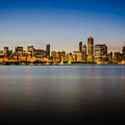 Chicago Skyline At Sunset Art Print