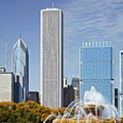 Chicago Skyline From Millenium Park Iv Art Print by Christine Till