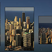 Chicago Skyline From Willis Tower Art Print by Christine Till