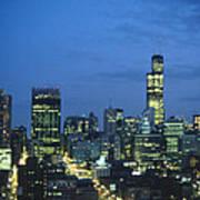 Chicago Skyline May 1983 Twilight Art Print