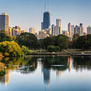 Chicago Skyline Reflection Art Print