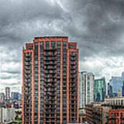 Chicago Skyline - Sears Tower 6 Shot Panorama Art Print