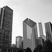 Chicago Skyscrapers Print by Mike Maher