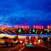 Chicago Skyway Toll Bridge Art Print