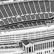 Chicago Soldier Field Aerial Panorama Photo Art Print