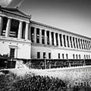Chicago Solider Field Black And White Picture Art Print by Paul Velgos