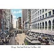 Chicago - State Street North From Van Buren - 1925 Art Print