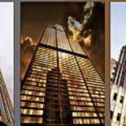 Chicago Tall Shoulders Trump Sears Tribune Triptych 3 Panel 02 Art Print