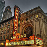 Chicago Theatre Hdr Art Print