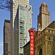 Chicago Theatre - This Theater Exudes Class Art Print