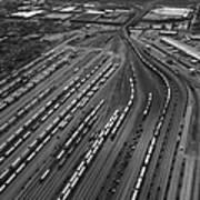 Chicago Transportation 02 Black And White Art Print