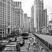 Chicago Triptych 3 Panel Black And White Art Print