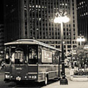 Chicago Trolly Stop Art Print