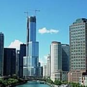 Chicago Trump Tower Under Construction Art Print