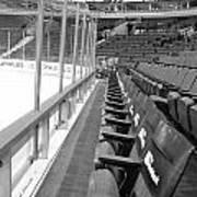 Chicago United Center Before The Gates Open Blackhawk Seat One Bw Art Print