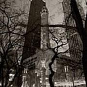 Chicago Water Tower B W Art Print