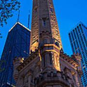 Chicago Water Tower Panorama Art Print by Steve Gadomski