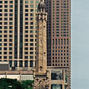 Chicago Water Tower Art Print