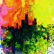 Chicago Watercolor Skyline Art Print