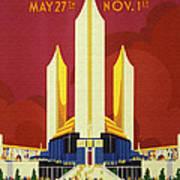 Chicago World Fair A Century Of Progress Expo Poster  1933 Art Print