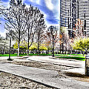 Chicago's Jane Addams Memorial Park From The Series The Imprint Of Man In Nature Art Print