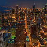 Chicagos Magnificent Mile Art Print