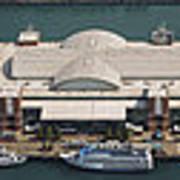 Chicago's Navy Pier Aerial Panoramic Art Print by Adam Romanowicz