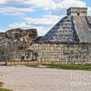 Chichen Itza - Mexico. View On El Castillo Pyramid. Art Print