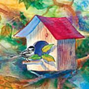 Chickadee Bungalow Art Print