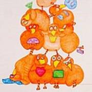 Chickadee Chick 10 Art Print