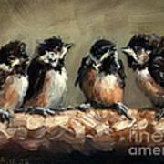 Chickadee Chicks Art Print